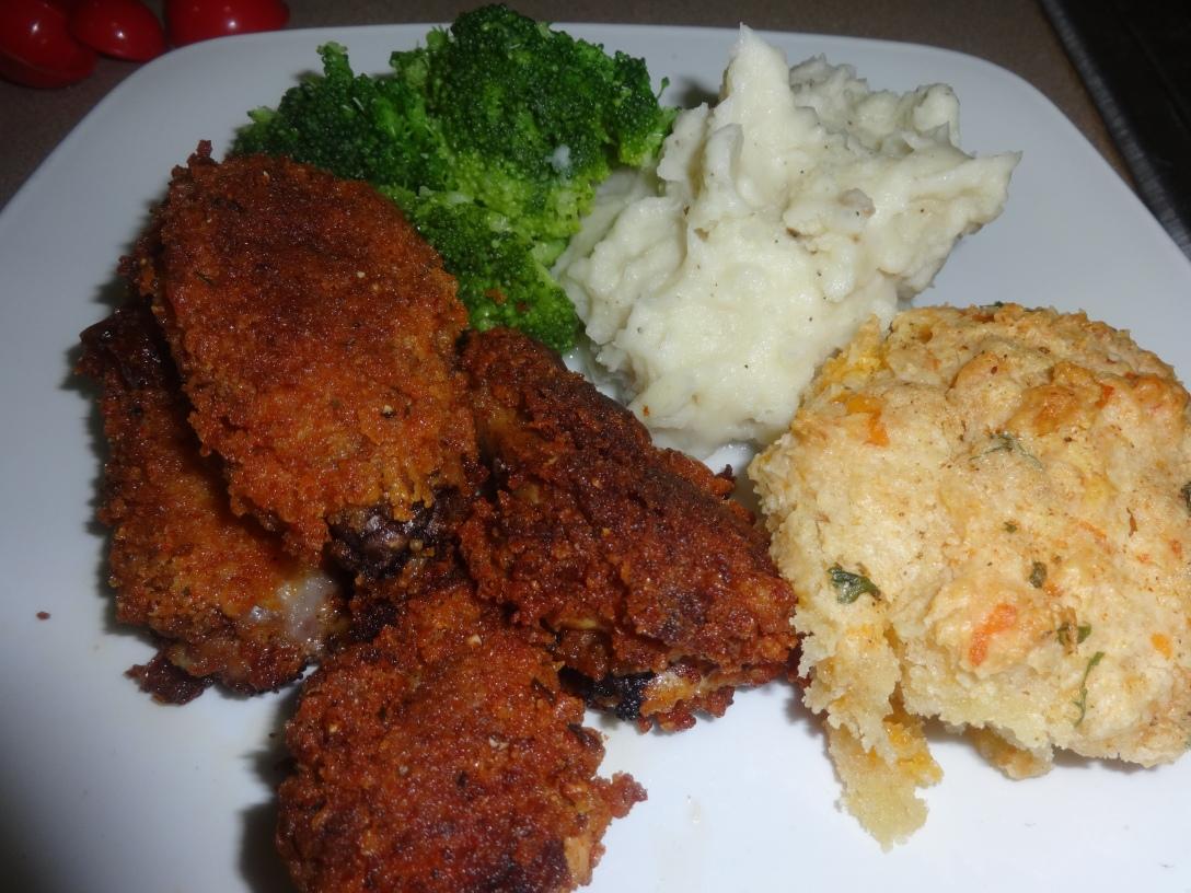 Lemon Pepper Chicken, Garlic Mash & Mr Holley Biscuits
