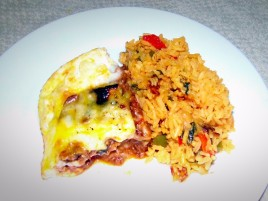 Pastelon and Yellow rice