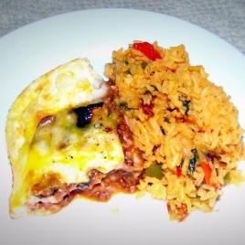 Pastelon and Yellow rice