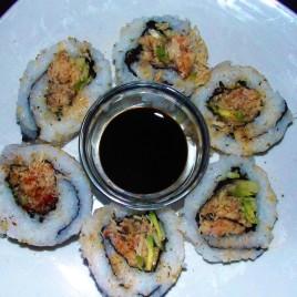 Homemade California rolls