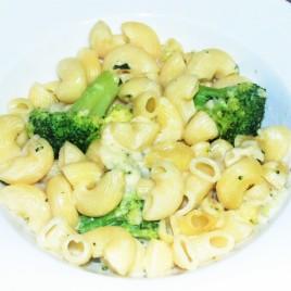 Macaroni & broccoli in a cream sauce