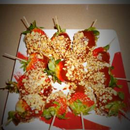 Samoas chocolate covered strawberries