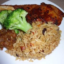 Pork Chops Rice and Beans Mini Mofongo