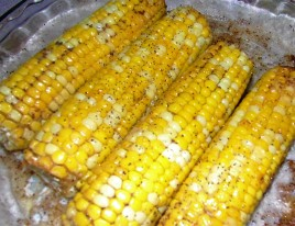 Oven Baked Corn on the cobb