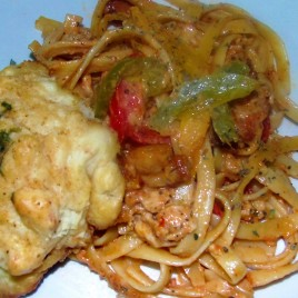 Cajun Chicken Fettuccine with Mr Holley Biscuits