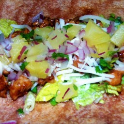 Luau chicken wrap