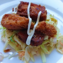 Fish with cabbage slaw (Paleo)
