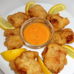 Beer Batter Fish Nuggets.