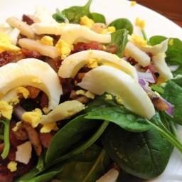 Bacon Spinach Salad                                   W/ Homemade Vinaigrette dressing