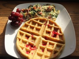 Strawberry Banana Waffles (Paleo)