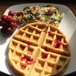 Strawberry Banana Waffles (Paleo)